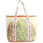 ショッピングプールバッグ 女の子 ROCO NAILS(ロコ ネイルス) プールバッグ 子供 女の子 ビニールトートバッグ 巾着袋付き オレンジ F