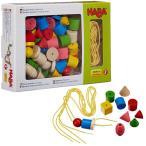 知育玩具 ひも通し 木のおもちゃ 2歳 3歳 4歳 誕生日プレゼント カラービーズ 6シェイプ