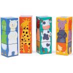 パズル 子供 幼児 知育玩具 3歳 4歳 5歳 誕生日プレゼント 12カラー アニマルブロックス