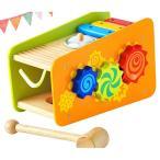 ハンマートイ ビジーベンチ&タワー 木のおもちゃ 木製 子供 1歳 2歳 3歳 誕生日プレゼント 男の子 女の子 赤ちゃん ベビー