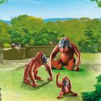 ごっこ遊び 人形 プレイモービル 動物園シリーズ オラウータンの家族