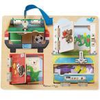 知育玩具 3歳 4歳 5歳 パズル 幼児 ロック&ラッチ ボード