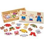 知育玩具 3歳 4歳 5歳 パズル 幼児 ベアーファミリー ドレスアップ パズル