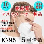 マスク 10枚入り 5層 KN95マスク 送料無料 コロナ対策 立体マスク 不織布 ウィルス飛沫 マスク10枚入 PM2.5対策 ほこり 風邪 花粉
