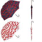 【公式】 ニフティカラーズ 傘  さくらんぼ チェリー 大柄 レディース 長傘 ドーム型 晴雨兼用 UV 防水 58cm 大きめ 紫外線防止