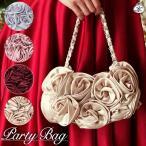 Bag - パーティーバッグ 結婚式 バッグ 薔薇 ローズ フォーマル パーティバッグ 大きめ ビーズ サブバッグ クラッチ ラインストーン
