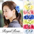 ヘアアクセサリー コサージュ 日本製 薔薇 バラ ハンドメイド フォーマル 髪飾り 手作り ヘアアクセ 髪飾り 花