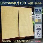 外吊りすだれ PVCすだれ(大) 防炎性にも優れ、汚れにくく腐ることのないプラスチック簾  (選べるカラー)