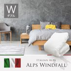 ショッピングイタリア イタリア産 イタリアンアルプス アルプス・ウィンドフォール ホワイトマザーグースダウン95% 羽毛掛布団 ダブル