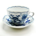 【送料無料祭】カールスバード ブルーオニオン (Carlsbad Blue Onion) コーヒーカップ&ソーサー 220cc