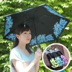 UVION シルバーコーティング 軽量折傘 ローズ柄 50cm 日傘 折り畳み