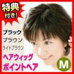 ポイントヘア Mサイズ ヘアウィッグ 部分かつら ポイントウィッグ ヘアピース ヘアーピース 女性用カツラ 部分カツラ 毛染め ヘアーアイロン 可能