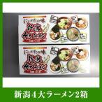 送料無料 新潟4大(味噌・醤油・背油・生姜)ラーメン2箱セット