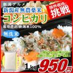 コシヒカリ 1キロ 無農薬米 無洗米 新米 新潟米 1kg  令和元年産 お米 新潟産 産地直送 米 コメ