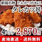 【送料無料】タレカツセット4パック(4人前) 秘伝のタレ付/新潟定番の味