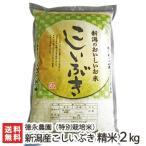 29年度新米 新潟産 特別栽培米 こしいぶき 精米2kg 徳永農園/お歳暮ギフト お祝い 贈り物 のし無料 送料無料