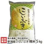 29年度新米 新潟産 特別栽培米 こしいぶき 精米5kg 徳永農園/お歳暮ギフト お祝い 贈り物 のし無料 送料無料