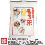 令和元年度米 新潟産 特別栽培米 こがねもち 玄米20kg(10kg×2)徳永農園 もち米/のし無料/送料無料