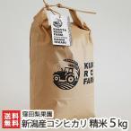 令和元年度米 新潟産コシヒカリ 精米 5kg 窪田梨果園/のし無料/送料無料