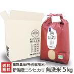 令和元年度新米 新潟産 特別栽培米コシヒカリ 無洗米 5kg×1袋 重野農産/送料無料