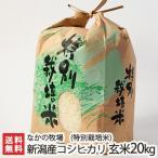令和元年度米 新潟県新発田市 菅谷産コシヒカリ(特別栽培米)玄米20kg(10kg×2) なかの牧場/父の日にも/のし無料/送料無料