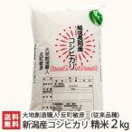 令和元年度米 新潟産コシヒカリ(従来品種)精米 2kg(無農薬・無化学肥料)/父の日にも/のし無料/送料無料