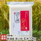 令和2年度米 新潟 糸魚川産「新之助」玄米 10kg(5kg×2)/ギフトにも/のし無料/送料無料