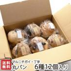 丸パン 6種 12個入 マルニチガイ・丁字/プレーン、蜂蜜ナッツ、葡萄、無花果、チョコレート、マダムのお紅茶/ギフトにも/のし無料/送料無料