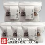 佐渡産 原木乾燥しいたけ 5袋(1袋あたり80g)/佐渡しいたけファーム/送料無料