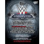 2015 TOPPS WWE UNDISPUTED BOX (送料無料)