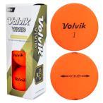 2016 Volvik VIVID ボール マットオレンジ 1スリーブ【ボール (スリーブ)|その他メーカー】