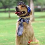 犬の帽子  ストライプ帽子 キャップ ワンちゃん帽子 紫外線防止 夏バテ防止 日除け メール便送料無料