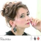 スター刺繍ピアス ma  即納 アクセ アクセサリー ピアス 刺繍 イヤリング  スター レディース シースルー 日本製 オーガンジー