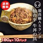 牛丼 レトルト 常温 最高級A5ランク仙台牛牛丼の具 180g×10パック【※ギフト包装不可商品】