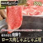 肉 牛肉 和牛 しゃぶしゃぶ 飛騨牛 ロース 500g×1p 赤身 鍋