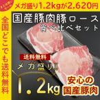 バーベキュー メガ盛り 焼肉 肉 訳あり わけあり 国産豚 豚ロース 1200g 大容量 業務用 しゃぶしゃぶ 送料無料 バーベキューセット