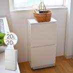 SP分別2段ワイド 40L  ゴミ箱 おしゃれ ペダル ふた付き 分別 ダストボックス ワイド 2分別 縦型 キッチン リビング アスベル