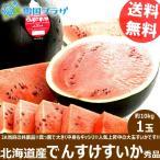 【予約】お中元 ギフト スイカ でんすけすいか 1玉 (JA当麻共撰 秀品 1玉 10kg) 北海道スイカ 暑中お見舞い 残暑お見舞い お取り寄せ