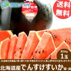 【予約】お中元 ギフト スイカ でんすけすいか 1玉 (JA当麻共撰 良品又は優品 1玉 5kg) 北海道スイカ 暑中お見舞い 残暑お見舞い お取り寄せ