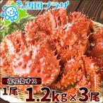 花蟹 - かに 北海道産 花咲蟹 1.2kg×3尾 (ボイル済み/冷凍) カニ 蟹 ギフト 贈り物 北海道 お取り寄せ