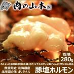 北海道産 豚 塩ホルモン 280g 味付き BBQ バーベキュー 焼肉 北海道 物産展 応援 支援 食品 グルメ お取り寄せ