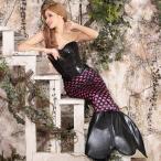 ショッピングコスプレ コスプレ ハロウィン コスチューム コスプレ衣装 2etスパンコールブラックマーメイドコスチュームセット