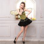 ショッピングコスプレ コスプレ ハロウィン コスチューム コスプレ衣装 3etミツバチコスチュームセット
