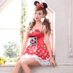 ショッピングキャラクター コスプレ ハロウィン コスチューム コスプレ衣装 2etドット柄ミニーマウス風コスチュームセット