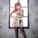 ショッピングコスプレ コスプレ ハロウィン コスチューム コスプレ衣装 2etゾンビミニワンピース