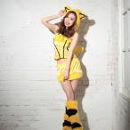 ショッピングコスプレ コスプレ ハロウィン コスチューム コスプレ衣装 4etポケモンのピカチュウ進化系ライチュウ風コスチュームセット