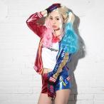 ショッピングコスプレ コスプレ ハロウィン コスチューム コスプレ衣装 5etスーサイドスクワッド ハーレイクイン風コスチュームセット