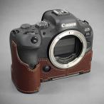 LIM'S Canon EOS R6 専用 イタリアンレザー カメラケース Brown ブラウン メタルプレート 本革 おしゃれ CN-EOSR6BR リムズ 日本正規販売店