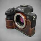 LIM'S リムズ Italian MINERVA BOX Genuine Leather Half Case for SONY α7RIII/α7III SY-A7R3DBR Brown ソニー A7RIII カメラケース