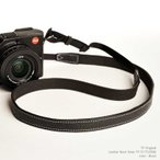 TP Original ティーピー オリジナル Leather Camera Neck Strap 本革カメラネックストラップ TP-15 Black(ブラック)
